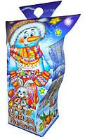 Новогодняя упаковка Фонарик снеговик 450г. размер 9*7*20(см.), фото 1