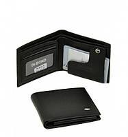 Бумажник мужской Dr.Bond M-61-50437 черный из натуральной кожи