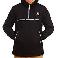 Куртка анорак мужская зимняя Ястребь черная