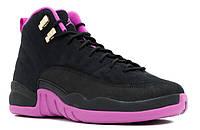 "Женские кроссовки Jordan Retro 12 ""KINGS"" Black/Purple, фото 1"