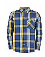 Рубашка для мальчика подростка 143-31B-11-479 д/р в клетку синяя