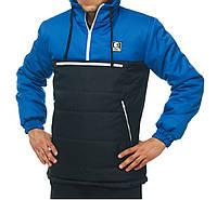 Куртка анорак мужская зимняя Ястребь Электрик-черный, фото 1