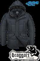 Куртка большого (56-62) размера  зимняя  Braggart Titans - 3284B графит