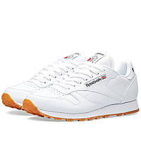Оригинальные  кроссовки Reebok Classic Leather White & Gum