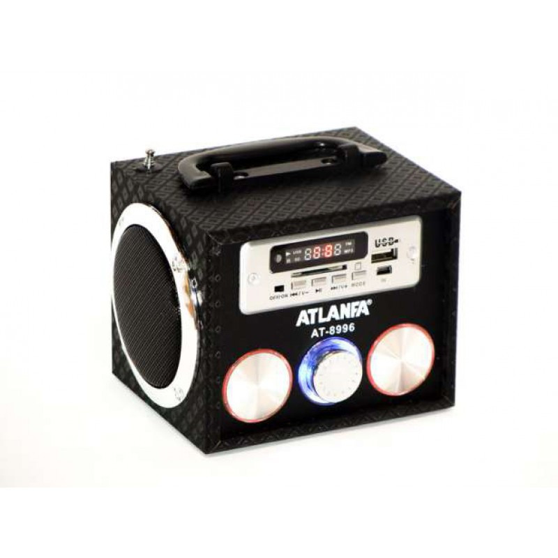Колонка портативная Atlanfa AT-8996 с MP3, USB и FM-pадио