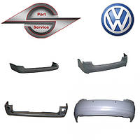 Бампер задний на Volkswagen фольксваген Caddy, Jetta , Polo, Bora, Golf, Passat, Transporter, Touareg, Touran