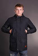 Осенняя куртка парка мужская молодежная Node autumn black