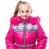 """Зимнее пальто для девочки """"Принт"""", от производителя оптом и в розницу  , фото 4"""