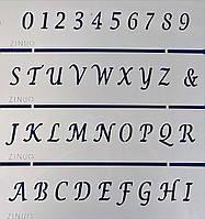 Трафарет гибкий « Алфавит и цифры »