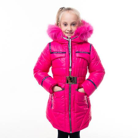 Зимнее пальто для девочки Селина на холофайбере