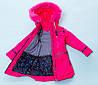 Зимнее пальто для девочки Селина на холофайбере , фото 4
