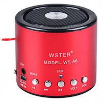 Колонка портативная WSTER WS-A8 с MP3, USB и FM-pадио, фото 1