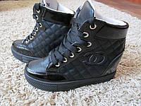Женские ботинки-сникерсы  эко кожа , фото 1
