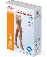 Чулки Aries Avicenum с кружевом, закрытый носок, бежевый, 70 ден, 3