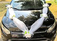Лента фатиновая с Белыми цветами (150)