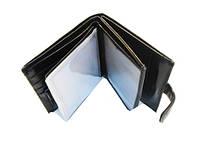 Бумажник мужской Canevo  8118-302B черный и коричневый из кожвинила