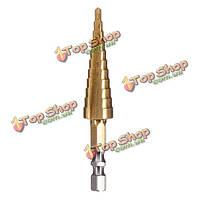 3-13мм ступенчатое сверло HSS прямо флейта пагода дрель с шестигранной хвостовик