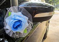 Голубые цветы на зеркала 2 шт/уп