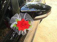 Красные цветы на зеркала 2 шт/уп