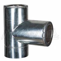 Тройник 90 для дымохода (термо) 1мм н/оц AISI 321
