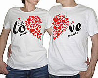 "Парные футболки ""Let create miracle"""