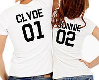 "Парные футболки ""Bonnie and Clyde"""