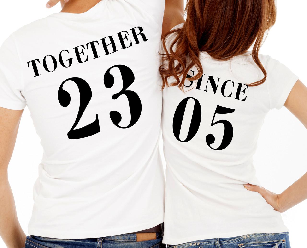 """Парные футболки """"Together since"""""""