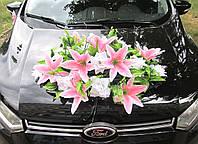 Икебана-панно Бело-розовая (лилии+розы) на Присосках
