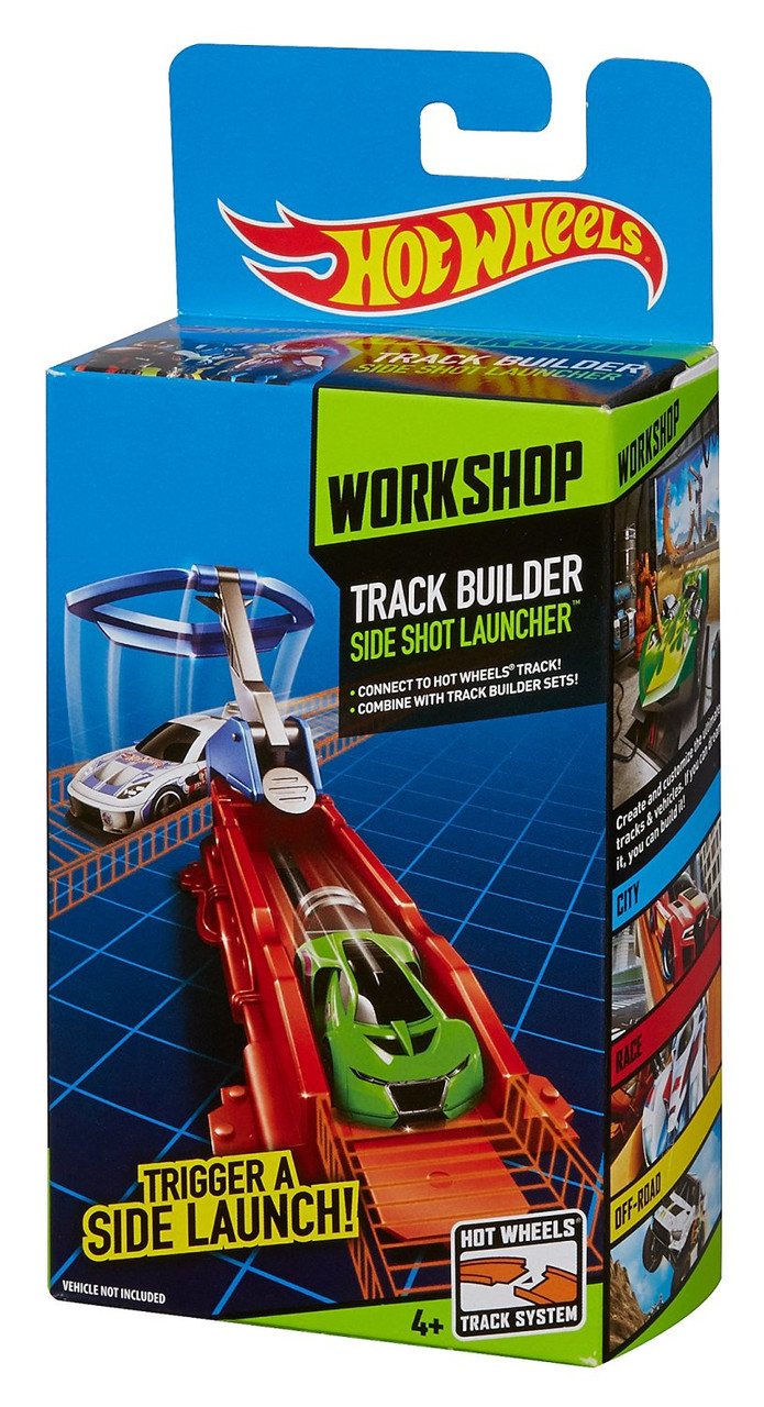 Элемент построения трека Hot Wheels Track Builder Sideshot Launcher Stunt Pack