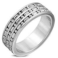 Мужское кольцо из стали с цепочками, в наличии 19.0, 20.0, 20.7, 21.5, 22.3