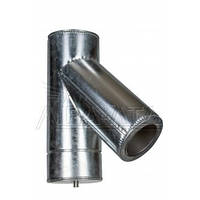 Тройник 45 для дымохода (термо) 1мм н/оц AISI 321