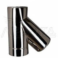 Тройник 45 для дымохода (термо) 1мм н/н AISI 321
