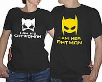 "Парные футболки ""Batman and Catwoman"""