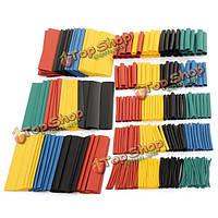 328 шт 2:1 полиолефиновые термоусадочные трубки 5 Цветов 8 размеров