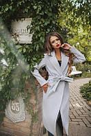 Пальто Кашемировое с карманами Классический Силуэт под пояс