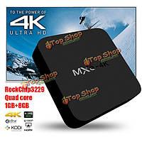 Mxq 4k rk3229 Андроид  4.4 1Гб/8Гб Wi-Fi доступ в Интернет 10bit Коди 16.0 AirPlay miracast TV Box для Андроид  мини-ПК