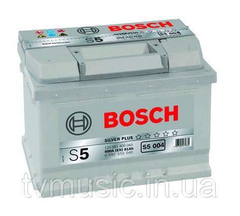Аккумулятор Bosch S5 004 Silver Plus 61Ah 12V (0092S50040)