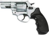 """Револьвер под патрон Флобера Ekol 3"""" Chrome (черный пластик)"""