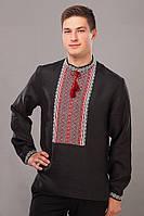 Стильная мужская рубашка из льняной ткани