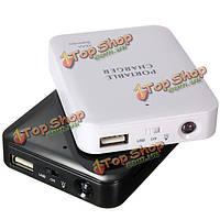 Портативный 4 АА батареи банка силы USB зарядное устройство чехол для мобильного телефона ПК