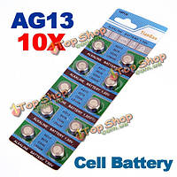 10 x в lr44 батареи кнопки ag13 клавиатура G13-в d303 l1154 l1154f щелочная батарея клетки кнопки