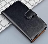 Кожаный чехол-книжка для Sony Xperia P LT22i черный