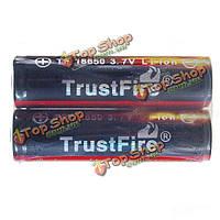 Две батареи TrustFire защищены 3.7v 2400mAh перезаряжаемые литиевые