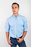 Классическая мужская рубашка с воротником на пуговицах Разные цвета.