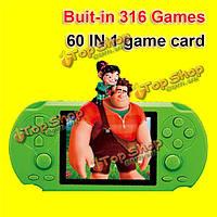 HST-808 2.5-дюймов экран портативной игровой консоли игрок построен в 316 играх с 60В1 игровой карты