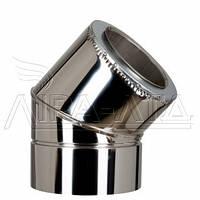 Колено 45 для дымохода (термо) 1мм н/н AISI 321