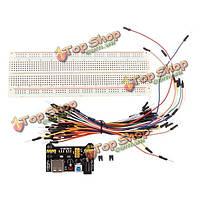 Мб-102 mb102 solderless макет + блок питания + соединительный кабель комплекты для Arduino