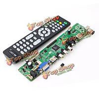 V56 универсальный ЖК-телевизор плате контроллера драйвер PC/VGA/HDMI/USB интерфейс