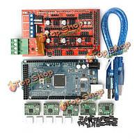 3D-принтер пандусы 1.4 контроллер + mega2560 R3 на + a4988 с радиатора комплект