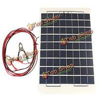 12v 10Вт 38 х 22см из поликристаллического прозрачной эпоксидной смолы панели солнечных батарей с аллигатора зажимом провода